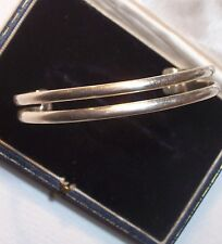 VINTAGE MEXICAN STERLING SILVER CUFF BANGLE