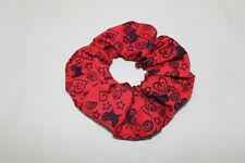 Elasticated hair scrunchie,red butterfly print Eco hair tie,stocking filler,gift