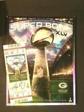 Aaron Rodgers Signed Auto Super Bowl XLV Program & Ticket Steiner Auth