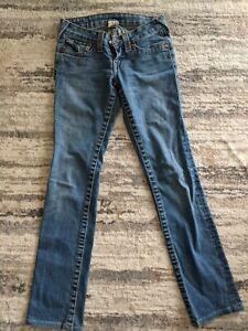 True Religion Billy Jeans - Womens Size 24 Blue Denim