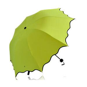 Frill Sun Rain Protected Umbrella Folding Secret Blossom Water Magic Umbrella