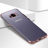 Téléphone Portable Étui Housse Coque Pour Samsung Galaxy S7 Transparent Rose