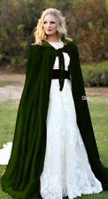 Velvet Hooded Cloak Cape Wedding Cape Halloween Coat Costume Wicca Robe S to 6XL
