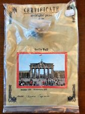 BERLIN WALL PIECE with Certificate - Authentic Historic German Artifact Souvenir