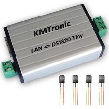 KMtronic LAN DS18B20 WEB 1-Wire Digital Temperature Monitor 4 SENSORS Complete