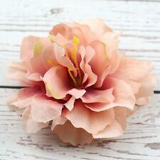 Coral 10P Artificial Silk Rose Peony Big Carnation Flower Heads Bulk DIY Craft