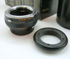 Minolta MC 50mm F:3.5 Macro adapter (1:1) and reverse ring  ONLY. No lens.