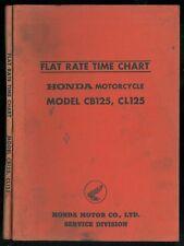 Flat Rate Time Chart HONDA CB 125 K1 CL125 - 1967/68 Parts List Catalogue pièces