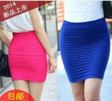 LADIES SHORT BANDAGE SKIRT (HOT PINK)