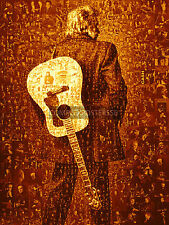 LARGE MOSAIC PHOTO POSTER IN VARIOUS COLOURS OF JOHNNY CASH