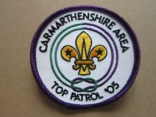 Carmarthenshire Area Top Patrol '05 Cloth Patch Badge Boy Scouts Scouting L6K