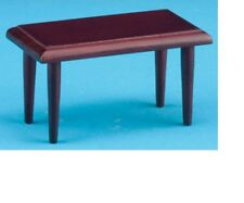 Dollhouse Miniatures 1:12 Scale Coffee Table, Mahogany #CLA10301
