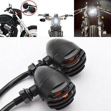 Pair CLIGNOTANT Moto en MÉTAL Pour Harley Custom Cafe Racer Chopper Bobber