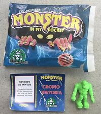 Monster In My Pocket - Series 1 - Cyclops Neon Green - Rare European Variant