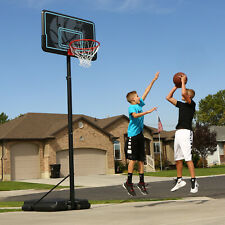 Portable Basketball Hoop with 44 Inch Backboard Steel Pole Outdoor Goal Rim New