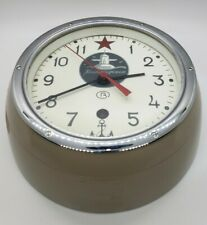 Rare Vostock Russian Submarine Wall Clock Marine Original Paint With Certificate