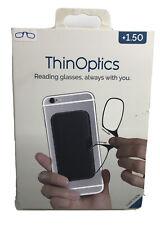 ThinOptics +1.5 BLACK Reading Glasses, Black - Always With You