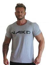 NAKD SIGNATURE TEE, BODYBUILDING MENS T SHIRT GYM SHIRT WORKOUT TRAINING MUSCLE