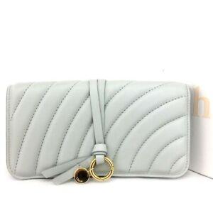 Chloe Blue Leather Long Bifold Wallet /C0990