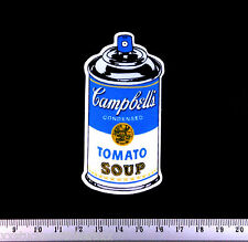 Andy Warhol Soup Tin Graffiti Sticker Spray Paint Can Laptop Skateboard Phone