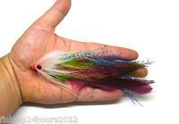 """6"""" Trout Salmon Steelhead Pike Fly Fishing Streamer Flies Purple NEW"""