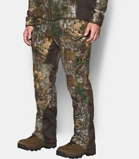 Under Armour Mens 42x32 Hunting Pants Scent Control Realtree Fleece 1291443 Camo