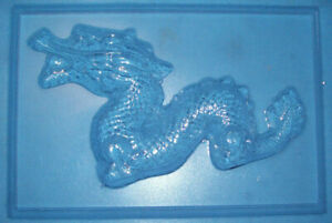 LAGE RECTANGLE WITH A DRAGON CHOCOLATE MOULD OR PLASTER MOULD
