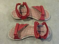 Merrell Sandals Girls Kids Size 10 - Sierra Ski Patrol Red Hook & Loop Leather