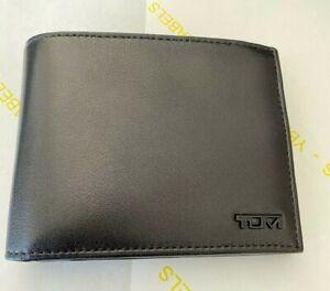 New Delta Global - ID Lock Shielded Double Billfold Leather Wallet, Color Black
