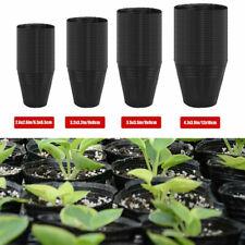 100 PACK NURSERY POTS Outdoor Vegetable Flower Plant Plastic Pot Garden