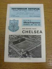 24/10/1964 Tottenham Hotspur v Chelsea  (Team Changes). Bobfrankandelvis [Footy