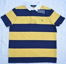 Neu Mittelgroß Polo Ralph Lauren Herren Kurzärmlig Rugby Hemd Eigener Für Gelb