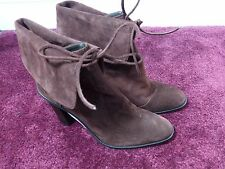 J.crew suede foldover lace up hurst boot size 7 burgundy wine