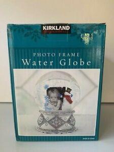 Kirkland Signature Photo Frame and Musical Snow Globe/Snowman Design