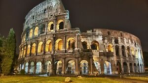 Rome Italy Colosseum - Flavian Amphitheatre Wall Art Poster / Canvas Pictures