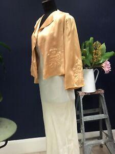 Vintage Original , Pure Silk 1930s Uniquely Exquisite Night Jacket
