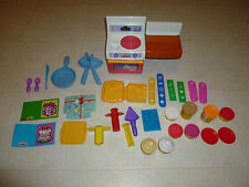 Rare 2003 Hasbro Playskool Play Doh Stove Oven Lot with Doh, Molds, tools, 33 pt