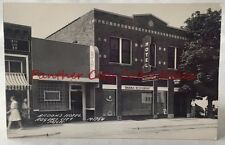 Vintage Postcard RPPC Brooks Hotel Rogers City Michigan Real Photo Hotel Bar