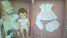 vintage american character tiny tears doll 11 1/2 inch in case with accessories