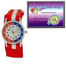 Reflex Time Teacher Red & White Easy Fasten Watch Refk0002