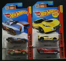 4 NEW HOT WHEELS HW RACE VELOCITY SUPER BLITZEN PROTOTYPE H-24 CORVETTE C7.R