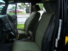 JEEP WRANGLER JK 4DOORS 2007-2012 BLACK/CHARCOAL VINYL CUSTOM FRONT SEAT COVERS