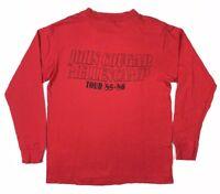 Vtg 80s John Cougar Mellencamp Mens Scarecrow Band Tour Red L/S T-Shirt Sz Large