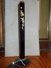 BLACK AMETHYSTS glass bud vase, estate