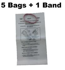 5 Wet Dry Vacuum Bag for Workshop WS01025F Shop Vacuum Filter Bags with Band