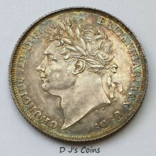 More details for 1825 king george iv laureate head shilling coin. high grade with good detail