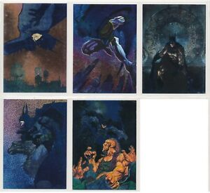 1994 BATMAN SAGA OF THE DARK KNIGHT SPECTRA ETCH PORTRAITS COMPLETE SET (5)