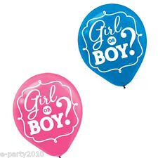 BABY SHOWER Girl or Boy LATEX BALLOONS (15) ~ Gender Reveal Party Supplies Pink