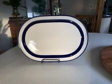 "Noritake China Fjord B951 Pattern Oval Platter 14 1/4"" Stoneware Oven Safe"