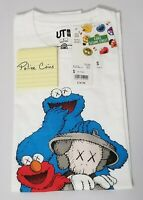 UNIQLO KAWS X SESAME STREET GRAPHIC T-SHIRT ELMO & COOKIE MONSTER WHITE S